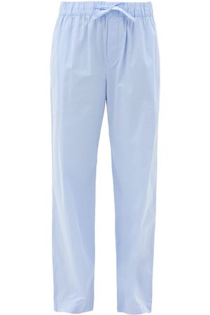 Tekla Women Pajamas - Drawstring Organic-cotton Pyjama Trousers - Womens - Light