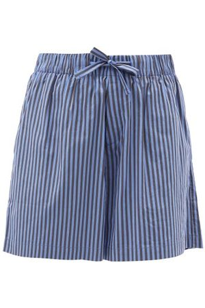 Tekla Striped Organic-cotton Pyjama Shorts - Womens - Stripe