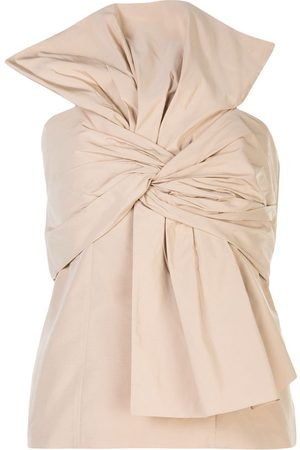 Givenchy Bow-front bustier top - Neutrals