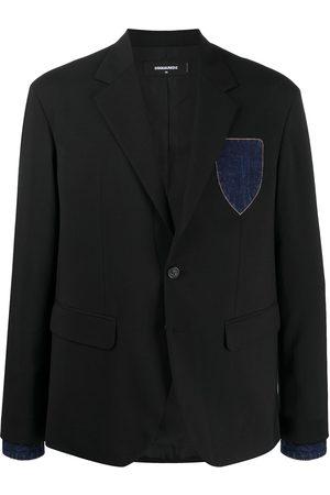 Dsquared2 Denim-detail single-breasted blazer