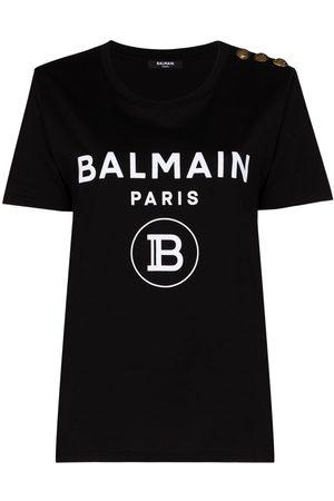 Balmain Women Short Sleeve - Logo-print short-sleeve T-shirt