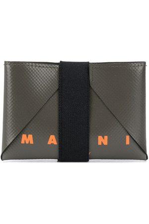 Marni Logo print strap detail cardholder