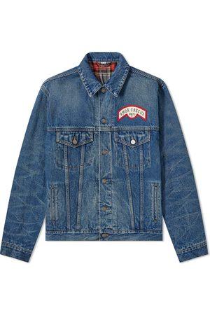 Gucci Flocked Back Denim Jacket