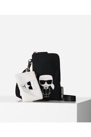 Karl Lagerfeld K/IKONIK DOUBLE POUCH