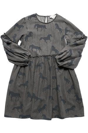 Stella McCartney Horses Print Cotton Chambray Dress