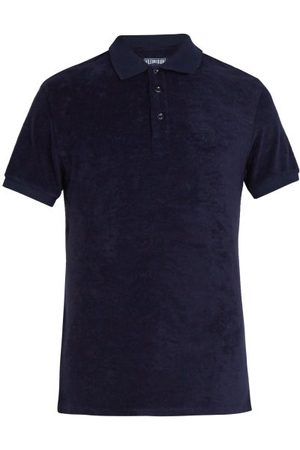 Vilebrequin Terry-cloth Cotton-blend Polo Shirt - Mens - Navy
