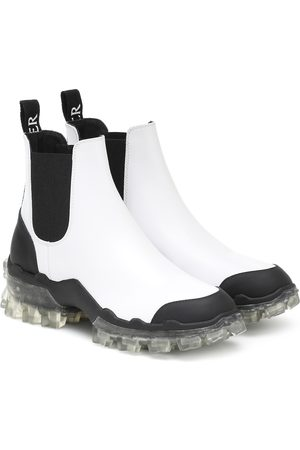 Moncler Hanya leather ankle boots