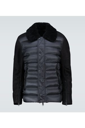 Moncler Mongioie suede-paneled jacket