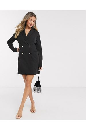 Lipsy London Double breasted military blazer dress in black