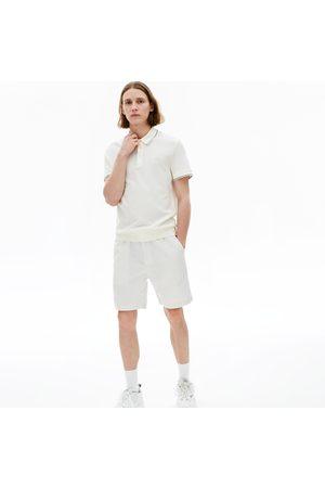 Lacoste Men's Pinstriped Linen- Blend Bermuda Shorts : /