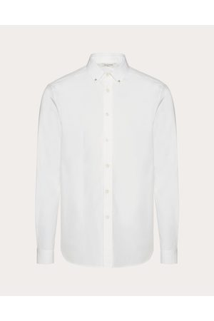 VALENTINO Rockstud Untitled Shirt Man Optic Cotton 100% 38