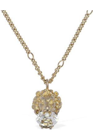 Gucci Lionhead Long Necklace W/ Crystal