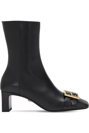VERSACE Women Ankle Boots - 85mm Leather Ankle Boots