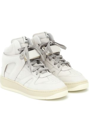 Isabel Marant Brooklee leather high-top sneakers