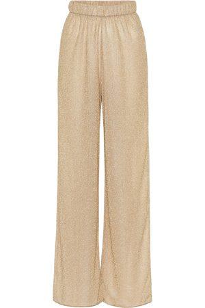 Oséree Lumière high-rise wide-leg pants