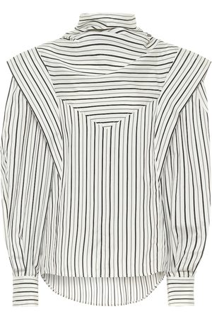 Isabel Marant Bianca striped silk-twill blouse