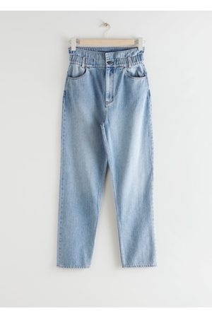 & OTHER STORIES Elastic Paperbag Waist Jeans
