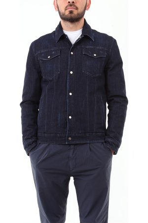 BARBA Men Denim Jackets - Denim jackets Men Dark jeans