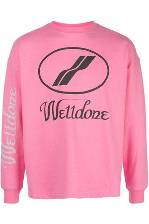 We11 Done Sweatshirts - Logo print crewneck sweatshirt