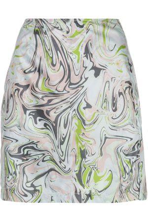 Maisie Wilen Call Me marble print mini skirt