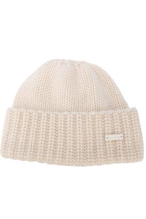 Saint Laurent Rib-knit cashmere beanie - Neutrals