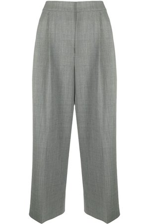 Moschino Wide-leg cropped trousers - Grey
