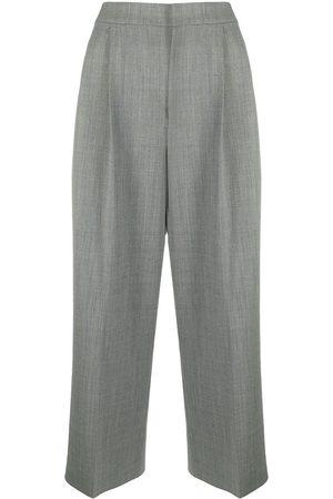 Moschino Women Wide Leg Pants - Wide-leg cropped trousers - Grey