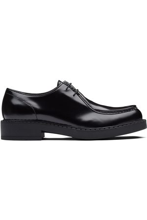 Prada Brushed leather paraboot shoes