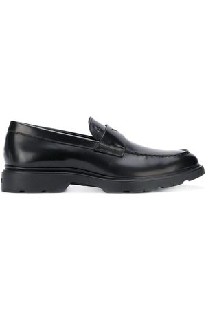Hogan Route stamped logo loafers