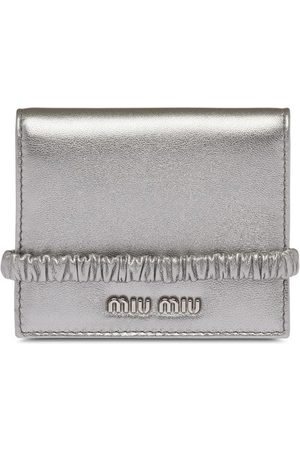 Miu Miu Women Wallets - Metallic foldover wallet