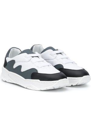 Emporio Armani Panelled colour block sneakers