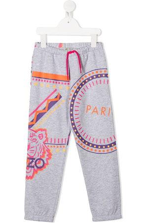 Kenzo Logo motif print track pants - Grey