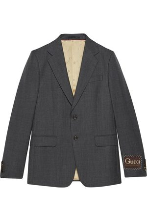 Gucci Single-breasted blazer jacket - Grey