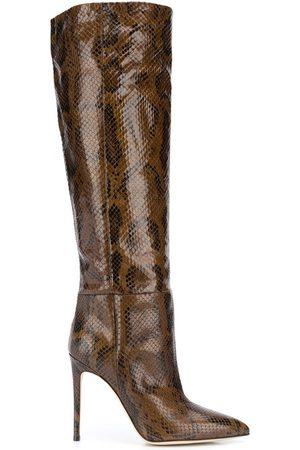 PARIS TEXAS Snake knee-length boots