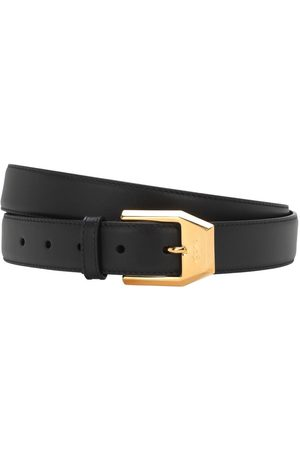 Gucci 3cm Gold Classic Leather Belt