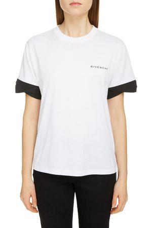 Givenchy Women's Twist Cuff Logo Cotton Tee