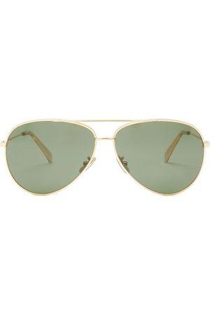 Céline Aviator Metal Sunglasses - Womens - Dark