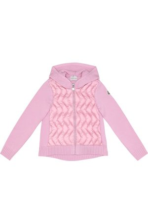 Moncler Girls Hoodies - Down and wool jacket