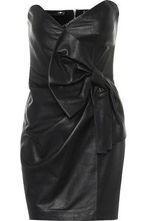 RED Valentino Strapless leather minidress