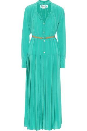 Victoria Beckham Pleated silk midi dress