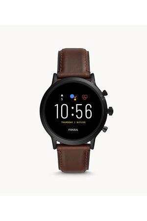 Fossil Men's REFURBISHED Gen 5 Smartwatch The Carlyle HR Dark Leather