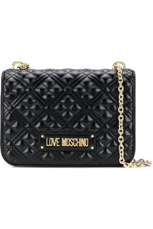 Love Moschino Women Shoulder Bags - Quilted logo plaque shoulder bag