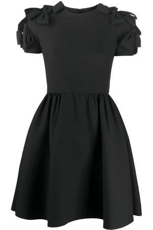 VALENTINO Bow-embellished full skirt dress