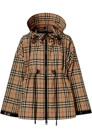 Burberry Vintage Check drawstring waist jacket - Neutrals