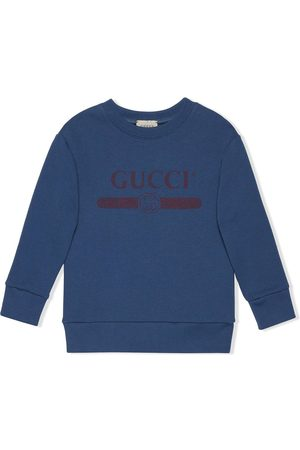 Gucci Boys Hoodies - Logo-print long-sleeved sweatshirt