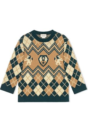 Gucci Boys Sweaters - GG embroidered jumper
