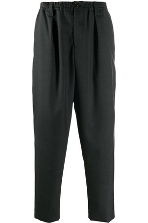 Marni Men Formal Pants - Cropped tailored wool trousers - Grey