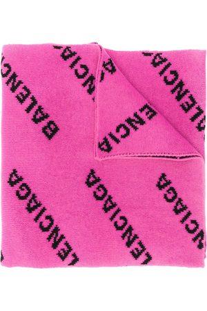 Balenciaga Women Scarves - Repeat logo pattern scarf