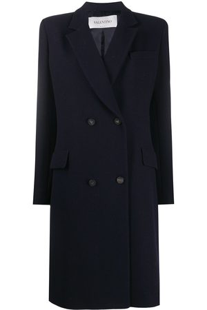 VALENTINO Peak-lapel double-breasted coat