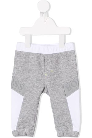 HUGO BOSS Logo stripe track pants - Grey